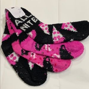 """ALL NITE"" & ""ALL DAY"" Cozy Gripper Socks! 2 Pairs"